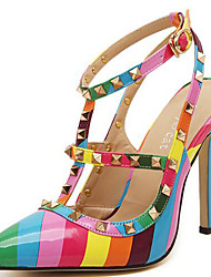 Women's Heels Spring / Summer / Fall / Winter Heels Synthetic Party & Evening / Casual Stiletto Heel Rivet Multi-color