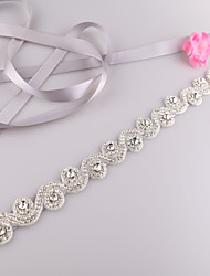 Satin Wedding / Party/ Evening / Dailywear Sash-Beading / Rhinestone Women's 98 in(250cm) Beading / Rhinestone
