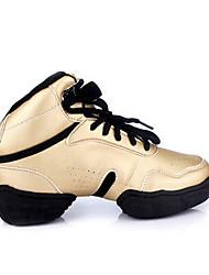Damen-Sneaker-Sportlich-Leder-KeilabsatzChampagner