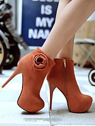 Feminino-Botas-Botas da Moda Sapatos clube Light Up Shoes-Salto Agulha-Preto Marrom Amarelo Vermelho-Courino-Escritório & Trabalho Casual