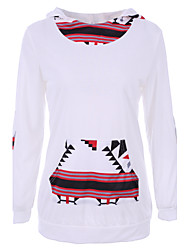 Women's Sports Street chic / Active Hoodies Patchwork White Cotton