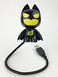 Creative ABS+PS Usb Batman Desk Lamp 4.4*3.9*7.2CM DC 5V 500MA(usb)