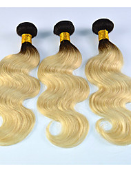 Омбре Бразильские волосы Волнистый 3 месяца 3 предмета волосы ткет