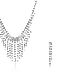 2016 Noble Luxury Classic Wedding Bridal Silver Zircon Necklace Earrings Party Jewelry Set