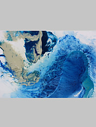 Abstract Sea Water Oil Painting Modern Style Stretcher Abstract Art Suitable For Modern house
