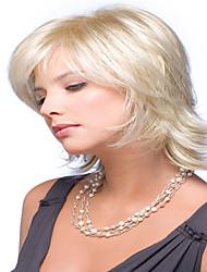 peluca ondulada corta de la manera venta caliente rubia sintética de las pelucas sintéticas señora atractiva
