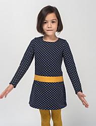 Robe Fille de Points Polka Décontracté / Quotidien Polyester Printemps / Automne Bleu