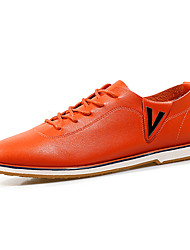 Business Style Men's High Quality PU Upper Flat Shoes in Leisure Style Man's Lace-up Flats for Office/Party/Trip
