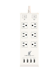 Bulls USB Socket Smart Charging Patch Panel Wiring Board Small White Row 1.8 Meters New GN-B303U