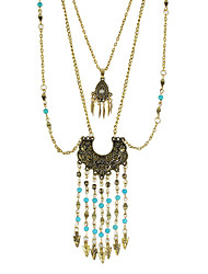 Multilayers Beads Long Chain Necklaces