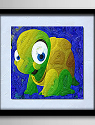 Modern Wall Art Oil Painting Tortoise On Canvas Home Children Decoration  Abstract Painting With Frame