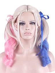 cosplay peruca pouca inclinação feio cavalo-cabelo dupla peruca 26 polegadas