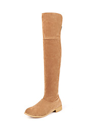 Women's Flats Fall / Winter Riding Boots / Fashion Boots / Comfort / Combat Boots / Round Toe  / Dress