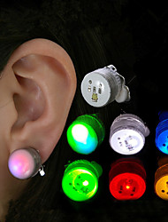 LED Magnetic Flashing Light Up Bling Ear Studs Dance Party Earrings No Piercing Gift idea