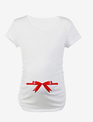 Tee-shirtCouleur Pleine Décontracté / Quotidien Mignon Eté Manches Courtes Col Arrondi Coton Spandex Fin