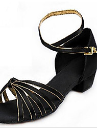 Girl's Sandals Spring / Fall Open Toe Leather Outdoor / Casual Stiletto Heel Lace-up Black Others