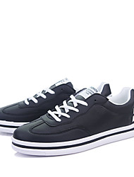 Men's Sneakers  Comfort / Round Toe / Closed Toe  Casual Flat Heel Lace-up Black / White / Black and White