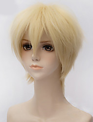 Fashion Short Straight  Wig Natural Blonde Color Synthetic Cosplay African American Wig