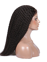 Glueless virgin brazilian human hair wigs kinky curly full lace wigs 14-18inch