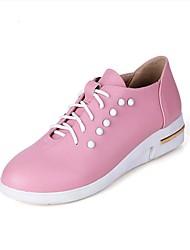 Women's Flats Spring / Summer / Fall Flats PU Outdoor / Dress / Casual Flat Heel Others Black / Blue / Pink Others