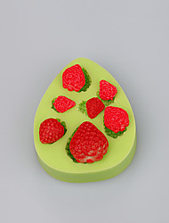 Fda&Lfgb morango silicone cubo de gelo fimo caly candy chocolate mold cor aleatória