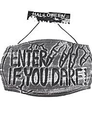 Artigos de Halloween Fantasias Festival/Celebração Trajes da Noite das Bruxas Cinzento Estampado Mais Acessórios Dia Das Bruxas Unisexo