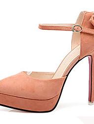 Damen-High Heels-Lässig-Vlies-Stöckelabsatz-Komfort-