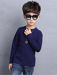 Boy's Casual/Daily Solid Sweater & CardiganCotton / Rayon Winter / Spring / Fall Blue / Red