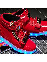 Per bambino-Sneakers-Casual-Light Up Shoes Comoda-Piatto-PU (Poliuretano)-Nero Rosso Bianco