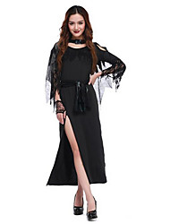 Women's Witch  Fitted Night Ghost Cosplay Long Gown Fancy Dress