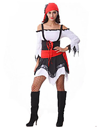 Women's  Patchwork Colour Pirate  Halloween Costume
