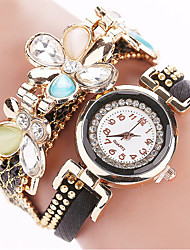 Women's Fashion Quartz Casual Watch Exaggerated Diamond Bracelet Flowers Round Dial Watch Cool Watch Unique Watch