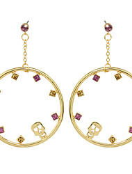 Earring Circle Drop Earrings Jewelry Women Fashion / Adorable Party / Daily Alloy 1 pair Gold KAYSHINE