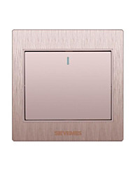 A Open Double Control 3D Gold Wall Switch