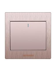 um interruptor de parede do ouro 3d duplo controlo aberta