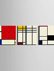 современный стиль живописные настенные часы в холст 3шт k0152