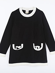 Girl's Casual/Daily Solid Sweater & CardiganCotton Fall Black