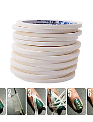 0.5cm*17m Taly Manicure Tape Masking Tape Pattern Tool For Nail Polish