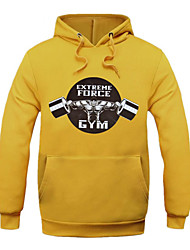 Men's Print Casual / Sport HoodieCotton Long Sleeve Black / Blue / Red / White / Yellow / Gray