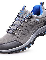 Синий / Серый-Мужской-Для прогулок / Для занятий спортом-Мех-На плоской подошве-Удобная обувь-Спортивная обувь