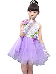 Girl's Going out Solid DressCotton / Others Summer Blue / Pink / Purple / Red