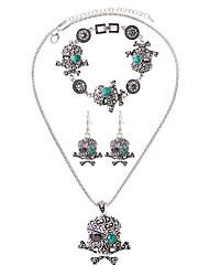 Collar / pulsera Collar / pendientes Moda Resina Cerámica Legierung Azul Collares Pendientes Pulsera Para Diario Casual 1 SetRegalos de