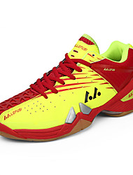 Men's Athletic Shoes Fall Comfort Tulle PU Athletic Flat Heel Lace-up Yellow Red Orange Badminton Tennis