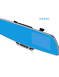 Driving Recorder Before And After The Double Lens Rear View Mirror HD 4.3 Inch Screen