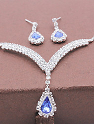 High-end Romantic Water Drop Necklace Set