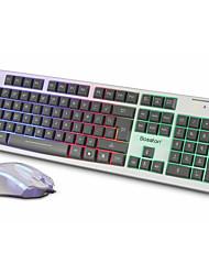 Bolton 838 Colorful Shining Keyboard Suit Desktop Notebook Internet Cafes Game Shine Keyboard Mouse Suit