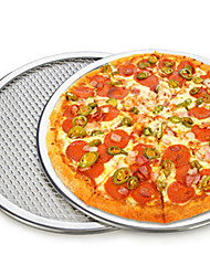 6inch Aluminum Flat Mesh Pizza Screen Round Baking Tray Net Kitchen Tool