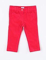 Mädchen Hose-Lässig/Alltäglich einfarbig Baumwolle Herbst Rot