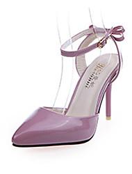 Damen-High Heels-Kleid / Party & Festivität-Leder-Stöckelabsatz-Fersenriemen-Rosa / Weiß / Grau