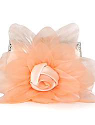 L.west Women Elegant High-grade Chiffon Flower Evening Bag